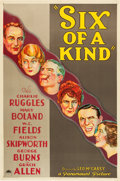"""Movie Posters:Comedy, Six of a Kind (Paramount, 1934). One Sheet (27"""" X 41"""") Style A.. ..."""
