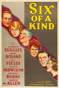 "Six of a Kind (Paramount, 1934). One Sheet (27"" X 41"") Style A"