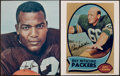 Football Collectibles:Photos, Jim Brown and Nitschke Signed Photographs. ...