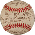 Baseball Collectibles:Balls, 1988 Hall of Fame Induction Weekend Multi Signed Baseball. ...