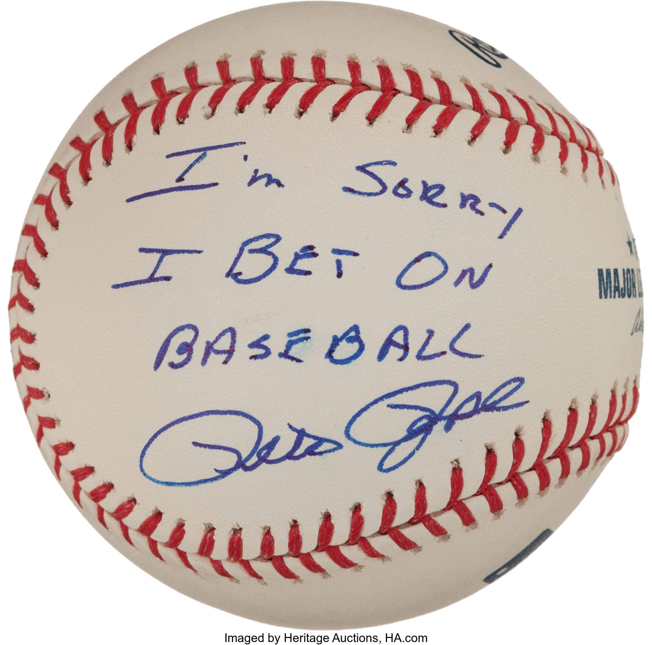 Pete rose i sorry i bet on baseball autograph sports betting forum service plays book