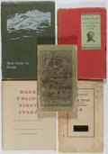 Books:Literature Pre-1900, [Mark Twain]. Five Books About Mark Twain. Assorted wrappers. Somechipping to the paper covers. Good or better. Collect... (Total:5 Items)