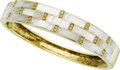 Estate Jewelry:Bracelets, Diamond, Mother-of-Pearl, Gold Bracelet. ...