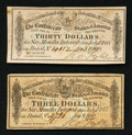 Confederate Notes:Group Lots, Two Confederate Bond Coupons.. ... (Total: 2 items)