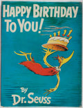 Books:Children's Books, Dr. Seuss. Happy Birthday to You. Random House, [1959].First edition, first printing. Publisher's cloth. Origin...