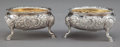 Silver Holloware, British:Holloware, A PAIR OF WILLIAM SKEEN GEORGE III SILVER AND SILVER GILT SALTS .William Skeen, London, England, circa 1761-1762. Marks: (l...