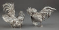 Silver Holloware, Continental:Holloware, A PAIR OF ITALIAN SILVER FIGURAL TABLE ORNAMENTS . Unknown maker,Italy, circa 1950. Marks: 800, ITALY. 5-1/2 x 7-1/2 x ...