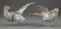 Silver Holloware, Continental:Holloware, A PAIR OF CONTINENTAL SILVER FIGURAL TABLE ORNAMENTS . Unknownmaker, probably Spain, circa 1950. Marks: 915. 4-1/8 x 9-...