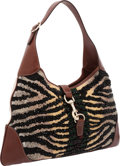 Luxury Accessories:Bags, Gucci Limited Edition Hand-Beaded Zebra & Signature StripeJackie O Hobo Bag, Retail ~$7,800. ...