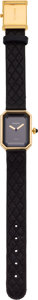 Luxury Accessories:Bags, Chanel Premiere Watch with Black Quilted Leather Strap. ...