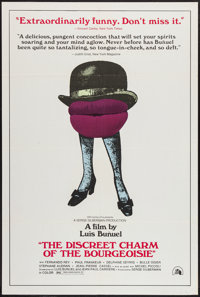 "The Discreet Charm of the Bourgeoisie (20th Century Fox, 1972). One Sheet (27"" X 41""). Comedy"