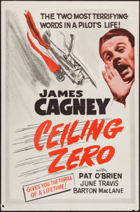 "Ceiling Zero (Warner Brothers, R-1950s). One Sheet (27"" X 41""). Drama"