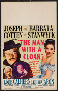 "The Man with a Cloak (MGM, 1951). Window Card (14"" X 22""). Film Noir"