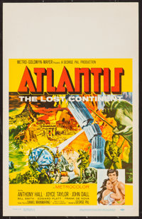 """Atlantis, the Lost Continent (MGM, 1961). Window Card (14"""" X 22""""). Adventure"""