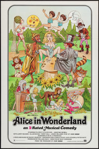 "Alice in Wonderland (General National, 1976). One Sheet (27"" X 41"") X-Rated version. Adult"