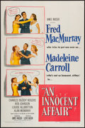 """Movie Posters:Comedy, An Innocent Affair (United Artists, 1948). One Sheet (27"""" X 41""""). Comedy.. ..."""