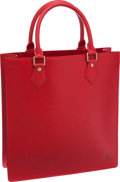 Luxury Accessories:Bags, Louis Vuitton Red Epi Leather Sac Plat Bag. ...