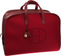Luxury Accessories:Travel/Trunks, Hermes 50cm Rouge H Gulliver Leather & Wool Large EvelyneTravel Bag. ...