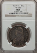 Bust Half Dollars, 1829/7 50C VF35 NGC. O-101a. NGC Census: (2/169). PCGS Population(8/202). Numismedia Wsl. Price for problem free NGC/PCGS...