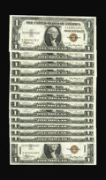 Small Size:World War II Emergency Notes, Fr. 2300 $1 1935A Hawaii Silver Certificates. Fourteen ConsecutiveExamples Very Choice Crisp Uncirculated.. Each of these n...(Total: 14 notes)