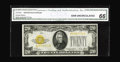 Small Size:Gold Certificates, Fr. 2402 $20 1928 Gold Certificate. CGA Gem Uncirculated 66.. A fresh and original note with its qualities certified by CGA....