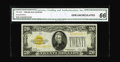 Small Size:Gold Certificates, Fr. 2402 $20 1928 Gold Certificate. CGA Gem Uncirculated 66.. Bright overprints grace this well margined note....