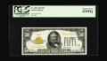 Small Size:Gold Certificates, Fr. 2404 $50 1928 Gold Certificate. PCGS Superb Gem New 67PPQ.. This example may well rank among the very finest small size ...