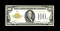 Small Size:Gold Certificates, Fr. 2405 $100 1928 Gold Certificate. Very Fine.. A nice overprint and bright paper are traits of this problem-free $100....