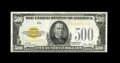 Small Size:Gold Certificates, Fr. 2407 $500 1928 Gold Certificate. About Uncirculated.. An attractive example of this much sought after denomination, with...