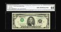 Error Notes:Inverted Third Printings, Fr. 1973-H $5 1974 Federal Reserve Note. CGA Gem Uncirculated 65..A nifty Type 1 inverted third print on a St. Louis $5 wit...