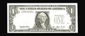 Error Notes:Third Printing on Reverse, Fr. 1918-E $1 1993 Federal Reserve Note. Choice Crisp Uncirculated.. The third printing appears normally on the back of this...