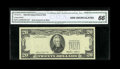 Error Notes:Third Printing on Reverse, Fr. 2075-L $20 1985 Federal Reserve Note. CGA Gem Uncirculated 66.. A well preserved third printing on back note that shows ...