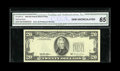 Error Notes:Third Printing on Reverse, Fr. 2081-D $20 1995 Federal Reserve Note. CGA Gem Uncirculated 65.. A very pristine example of this error with excellent cen...