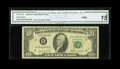 Error Notes:Doubled Third Printing, Fr. 2027-B $10 1985 Federal Reserve Note. CGA Fine 15.. A neaterror that has an offset of the next notes serial number on t...