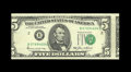 Error Notes:Shifted Third Printing, Fr. 1978-B $5 1985 Federal Reserve Note. Gem Crisp Uncirculated.. The face is moderately misaligned with the serial number a...