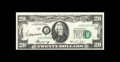 Error Notes:Shifted Third Printing, Fr. 2071-J $20 1974 Federal Reserve Note. Gem Crisp Uncirculated. This is a rather ordinary shifted third printing error, bu...