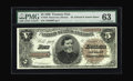 Large Size:Treasury Notes, Fr. 359 $5 1890 Treasury Note PMG Choice Uncirculated 63. Both sides of this lovely note are photographed on page 220 of the...