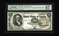 Large Size:Treasury Notes, Fr. 372 $20 1890 Treasury Note PMG Superb Gem Unc 67 EPQ. This note first came to the market in a Mayflower auction in June ...