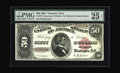 Large Size:Treasury Notes, Fr. 376 $50 1891 Treasury Note PMG Very Fine 25. As soon as theSherman Silver Purchase Act, which called for the issuance o...