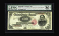 Large Size:Treasury Notes, Fr. 378 $100 1891 Treasury Note PMG Very Fine 20. Often surpassed in popularity by the Watermelon design types that preceded...