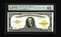 Large Size:Gold Certificates, Fr. 1173 $10 1922 Gold Certificate PMG Choice Uncirculated 64. Michael Hillegas, whose portrait appears on this note, was th...