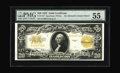 Large Size:Gold Certificates, Fr. 1187 $20 1922 Gold Certificate PMG About Uncirculated 55. A lovely high-end AU example that has the appearance of a perf...