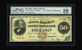 Large Size:Gold Certificates, Fr. 1188 $50 1882 Gold Certificate PMG Very Good 10. Only eight examples of this number are known, all but one of which are ...