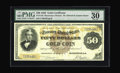 Large Size:Gold Certificates, Fr. 1192 $50 1882 Gold Certificate PMG Very Fine 30 EPQ. Along withthe coveted EPQ, Paper Money Guaranty has added the seco...