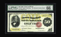 Large Size:Gold Certificates, Fr. 1197 $50 1882 Gold Certificate PMG Gem Uncirculated 66 EPQ.Although listed on the census as CU, there is no further inf...