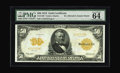 "Large Size:Gold Certificates, Fr. 1199 $50 1913 Gold Certificate PMG Choice Uncirculated 64 EPQ.This 1913 Fifty Dollar Gold has received the coveted ""Exc..."