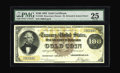 Large Size:Gold Certificates, Fr. 1205 $100 1882 Gold Certificate PMG Very Fine 25. Last on the market when the Herman Halperin Collection sold in 1993, t...