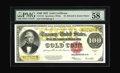 Large Size:Gold Certificates, Fr. 1215 $100 1922 Gold Certificate PMG Choice About Unc 58 EPQ.The most common of the Hundred Dollar Gold Certificates by ...