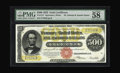 "Large Size:Gold Certificates, Fr. 1217 $500 1922 Gold Certificate PMG Choice About Unc 58. PMG has added the positive comment, ""Great Color"" to their hold..."