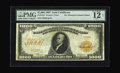 Large Size:Gold Certificates, Fr. 1219 $1000 1907 Gold Certificate PMG Fine 12. The PMG 12 is anet grade due to a number of minor, almost unnoticeable re...
